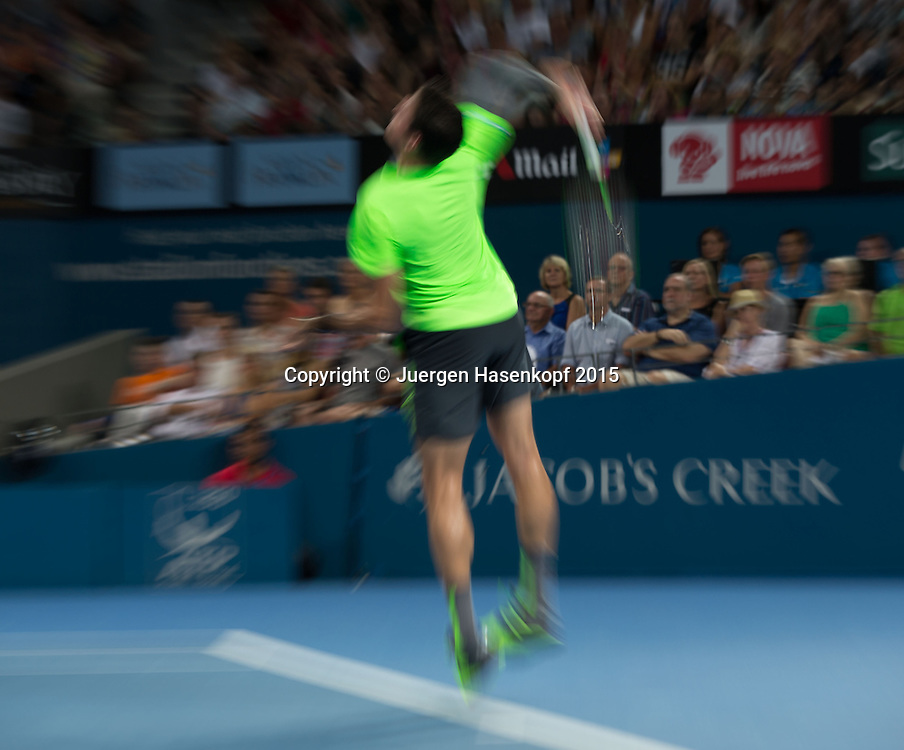 Milos Raonic (CAN)<br /> <br /> Tennis - Brisbane International  2015 - ATP -   - Brisbane - QLD - Australia  - 11 January 2015. <br /> &copy; Juergen Hasenkopf