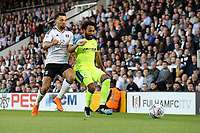 LONDON, ENGLAND - MAY 14:LONDON, ENGLAND - MAY 14:Ikechi Anya, of Derby County, is closed down by Fulham's Ryan Fredericks