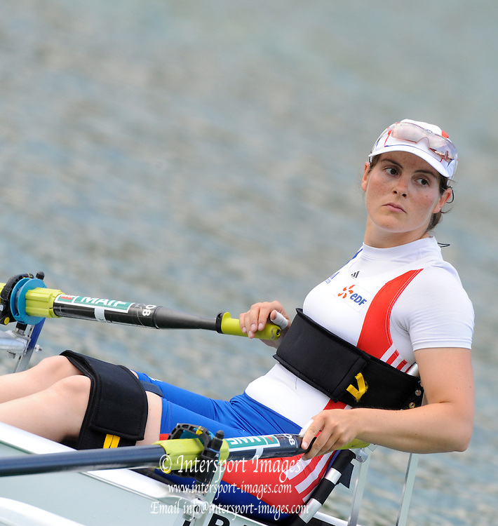 Munich, GERMANY, Adaptive Rowing FRA ASW1X, Nathalie BENOIT. FISA world Cup Rd 1. Munich Olympic Rowing Course,  Thursday  26/05/2011  [Mandatory Credit Peter Spurrier/ Intersport Images]
