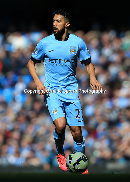 21st March 2015 - Barclays Premier League - Manchester City v West Bromwich Albion - Gael Clichy of Man City - Photo: Simon Stacpoole / Offside.