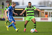 Forest Green Rovers Dan Wishart(17) on the ball during the Vanarama National League match between Forest Green Rovers and Macclesfield Town at the New Lawn, Forest Green, United Kingdom on 4 March 2017. Photo by Shane Healey.