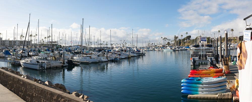 Boats Docked At Oceanside Harbor