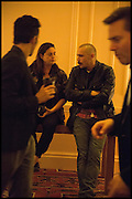 MAJA HOFFMANN; JAMES FRANCO James Franco talk and supper at Mansfield St. hosted by Maja Hoffmann. London. 23 November 2014