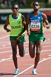 SANTOS Odair Guide:  SANTOS Carlos, BRA, 1500m, T11, 2013 IPC Athletics World Championships, Lyon, France