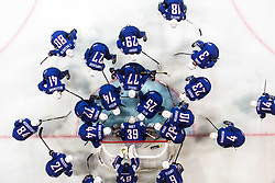Players of France during the 2017 IIHF Men's World Championship group B Ice hockey match between National Teams of France and Slovenia, on May 15, 2017 in AccorHotels Arena in Paris, France. Photo by Vid Ponikvar / Sportida