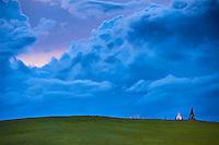 Mongolie, Arkhangai, ovoo, lieu de culte chamanique // Mongolia, Arkhangai province, ovoo, shamanic worship place