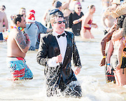 The Coney Island Polar Bear Club's annual New Year's Day swim at Coney Island in Brooklyn, NY on January 1, 2017.