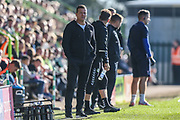 Forest Green Rovers manager, Mark Cooper during the EFL Sky Bet League 2 match between Forest Green Rovers and Cheltenham Town at the New Lawn, Forest Green, United Kingdom on 20 October 2018.