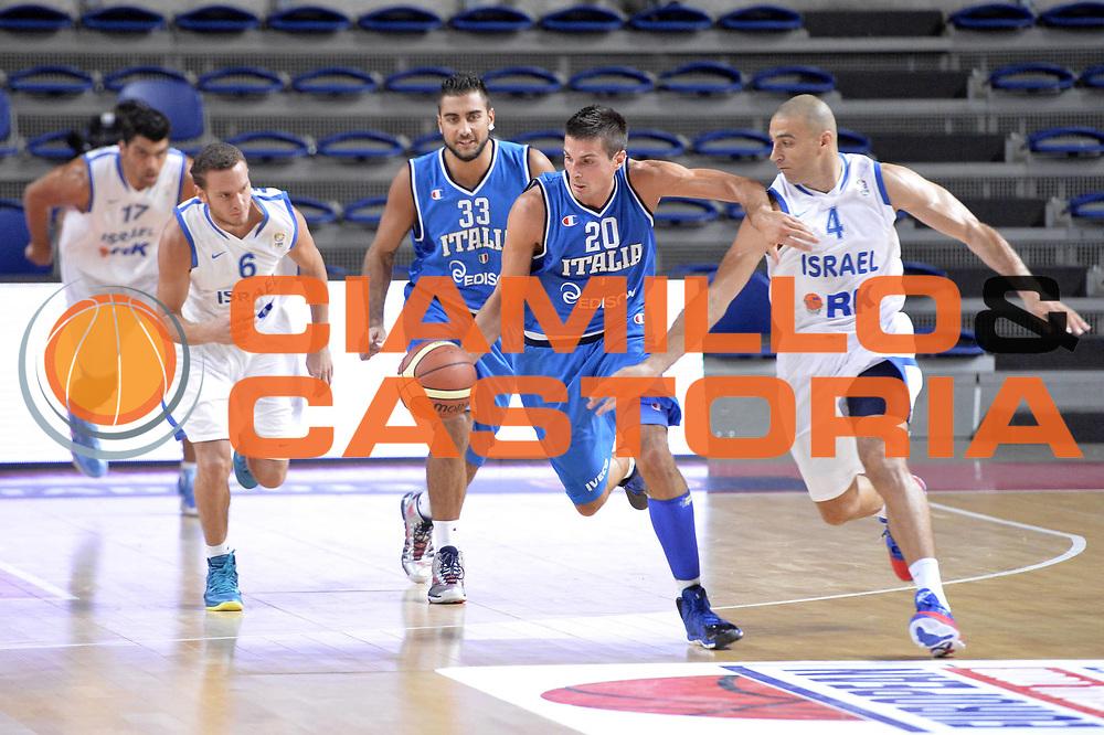 DESCRIZIONE : Anversa European Basketball Tour Antwerp 2013 Italia Israele Italy Israel<br /> GIOCATORE : Andrea Cinciarini<br /> CATEGORIA : contropiede<br /> SQUADRA : Nazionale Italia Maschile Uomini<br /> EVENTO : European Basketball Tour Antwerp 2013 <br /> GARA : Italia Israele Italy Israel<br /> DATA : 18/08/2013<br /> SPORT : Pallacanestro<br /> AUTORE : Agenzia Ciamillo-Castoria/GiulioCiamillo<br /> Galleria : FIP Nazionali 2013<br /> Fotonotizia : Anversa European Basketball Tour Antwerp 2013 Italia Israele Italy Israel<br /> Predefinita :