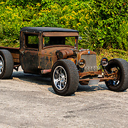 1930 Plymouth Sedan Rat Rod on pavement