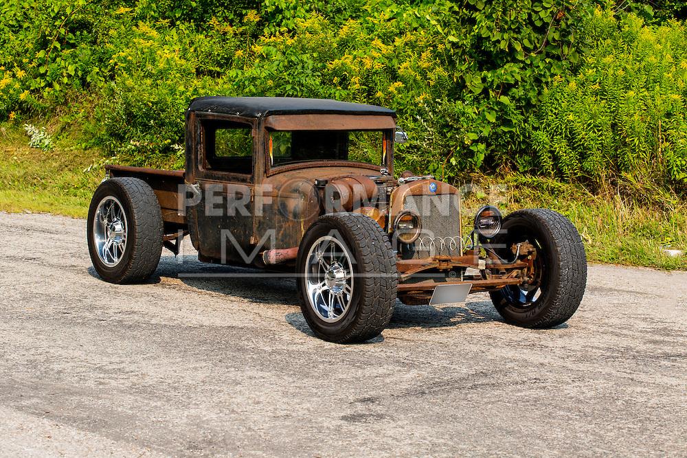 1930 Plymouth Sedan Rat Rod on pavement