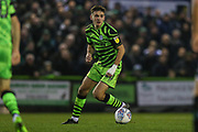 Forest Green Rovers Liam Kitching(20) on the ball during the EFL Sky Bet League 2 match between Forest Green Rovers and Plymouth Argyle at the New Lawn, Forest Green, United Kingdom on 16 November 2019.