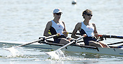 Caversham, Reading,  GBR LW2X, bow Helen CASEY and Hester GOODSELL,  GB Rowing Team Training at Redgrave Pinsent Lake, Engand [Credit Peter Spurrier/Intersport Images]  [Mandatory Credit, Peter Spurier/ Intersport Images]. , Rowing course: GB Rowing Training Complex, Redgrave Pinsent Lake, Caversham, Reading