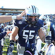 The Yale seniors presentation of players making their final appearance before the Yale Vs Princeton, Ivy League College Football match at Yale Bowl, New Haven, Connecticut, USA. 15th November 2014. Photo Tim Clayton