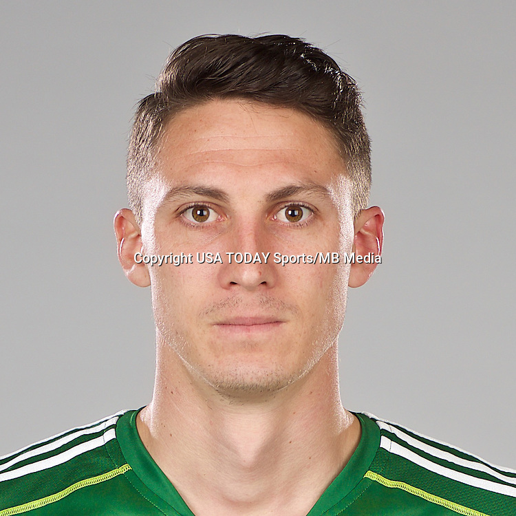 Feb 25, 2016; USA; Portland Timbers player Ben Zemanski poses for a photo. Mandatory Credit: USA TODAY Sports