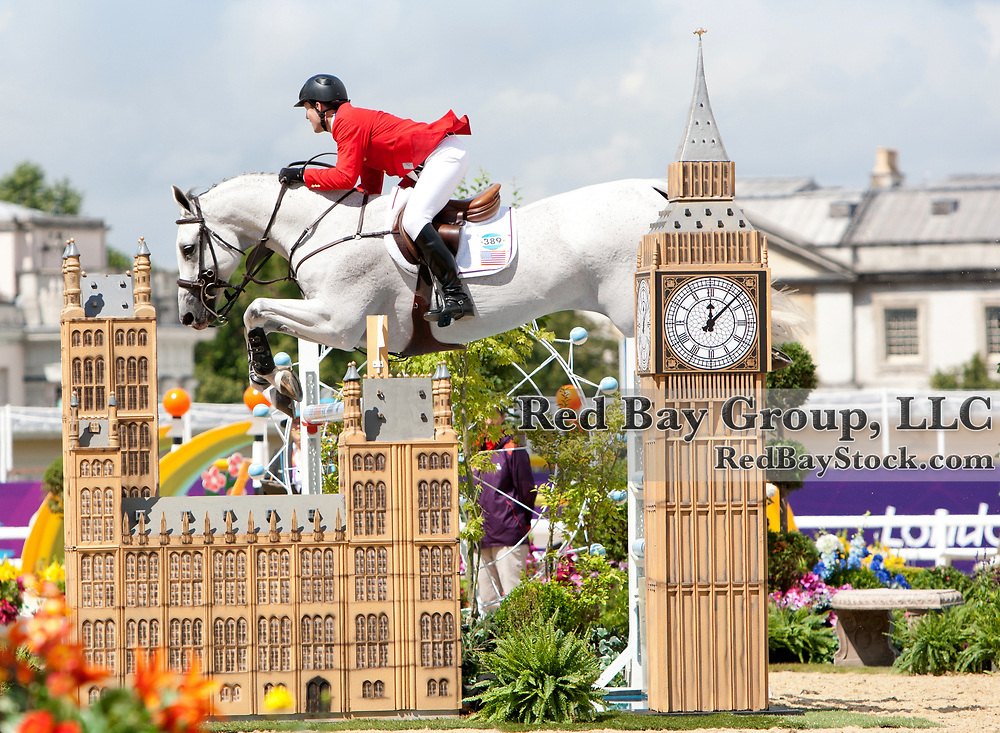 McLain Ward and Antares F at the Greenwich Park venue of the 2012 London Olympic Games.