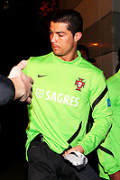 20120227: WARSZAWA, POLAND - Portugal players go out of Sheraton Hotel and drive for an evening workout in Warszawa, Poland.<br />