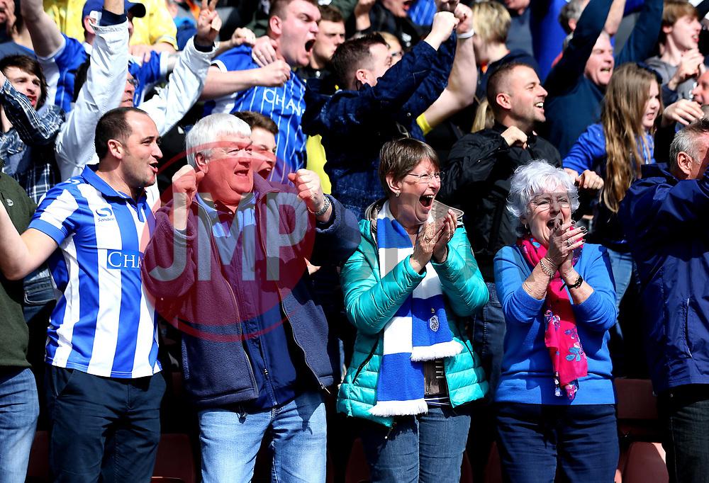 Sheffield Wednesday fans - Mandatory by-line: Robbie Stephenson/JMP - 01/04/2017 - FOOTBALL - Oakwell Stadium - Barnsley, England - Barnsley v Sheffield Wednesday - Sky Bet Championship