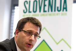 Ales Zavrl, secretary general during press conference of the Football Association of Slovenia (NZS – Nogometna zveza Slovenije), on November 7, 2011, in NZS, Crnuce, Ljubljana, Slovenia.  (Photo by Vid Ponikvar / Sportida)