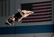 Kickapoo's Kylie Wilson performs a dive during swim practice at the Foster Natatorium on January 30, 2014 in Springfield. Wilson was the only diver on the Kickapoo squad who qualified for state. (David Welker/For the News-Leader)