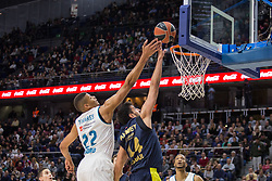 March 2, 2018 - Madrid, Madrid, Spain - Edy Tavares (L) during Fenerbahce Dogus Istanbul victory over Real Madrid (83 - 86) in Turkish Airlines Euroleague regular season game (round 24) celebrated at Wizink Center in Madrid (Spain). March 2nd 2018. (Credit Image: © Juan Carlos Garcia Mate/Pacific Press via ZUMA Wire)
