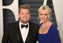 February 24, 2019 - Beverly Hills, California, U.S - James Corden (L) and Julia Carey on the red carpet of the 2019 Vanity Fair Oscar Party held at the Wallis Annenberg Center in Beverly Hills, California on Sunday February 24, 2019. JAVIER ROJAS/PI (Credit Image: © Prensa Internacional via ZUMA Wire)
