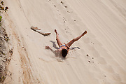 Natal_RN, Brasil...Escorregador de areia nas dunas no litoral norte. ..The sand slide on the dunes in north coast...Foto: LEO DRUMOND / NITRO