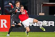 ALKMAAR - 26-09-2015, AZ - Heracles Almelo, AFAS Stadion, 3-1, Heracles Almelo speler Jaroslav Navratil (l), AZ speler Vincent Janssen.