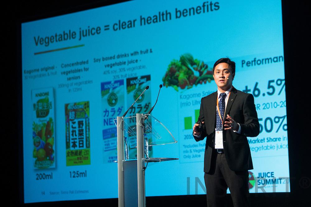 Christopher Lazaro, Global Marketing Manager, Tetra Pak, DE, at the Juice Summit in Antwerp 15 - 16 October 2014. Photo: Erik Luntang