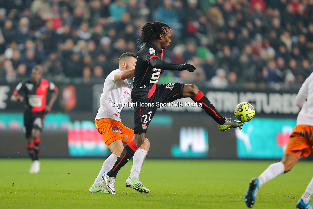 Habib HABIBOU - 06.12.2014 - Rennes / Montpellier - 17eme journee de Ligue 1 -<br />