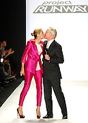 Hosts Heidi Klum and Tim Gunn appear during Project Runway Season 6 Finale taping at Mercedes-Benz Fashion Week Fall 2009 show.