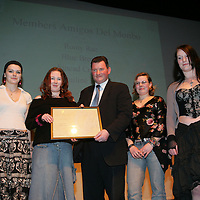 Members of Amigos Del Monbo  being presenteded with their Young Citizen Award by Cllr Pat Hayes, Cathoirleach of Clare County Development Board in Glor<br /> Pic.Brian Gavin/Press 22