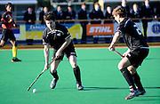 Kane Russell of New Zealand in action, Junior Black Sticks Men vs Malaysia Juniors international Under 21 Hockey, 7 June 2011, Alexander McMillan Hockey Centre Dunedin, New Zealand. Photo: Richard Hood/photosport.co.nz