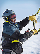 The 10th Annual Lake Mille Lacs Kite Crossing in Garrison Bay, Minnesota, Saturday, March 1, 2014.