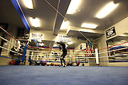 Belgian Featherweight Alex Miskirtchian training at Big Bear.  March 2012