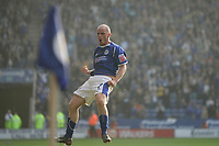 Photo: Pete Lorence.<br />Leicester City v Southampton. Coca Cola Championship. 14/10/2006.<br />Iain Hume celebrates, after taking Leicester into a 2-1 lead.