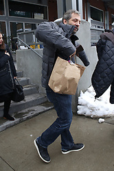 EXCLUSIVE: Judd Apatow carries a swag bag as he leaves a gifting suite, promoting his film 'The Big Sick' at Sundance. Judd was seen leaving the Hollywood Reporter lounge in Park City. 26 Jan 2017 Pictured: Judd Apatow. Photo credit: Atlantic Images / MEGA TheMegaAgency.com +1 888 505 6342