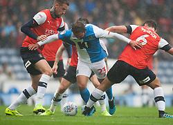 Bradley Dack of Blackburn Rovers gets through 3 Luton Town players - Mandatory by-line: Jack Phillips/JMP - 28/09/2019 - FOOTBALL - Ewood Park - Blackburn, England - Blackburn Rovers v Luton Town - English Football League Championship