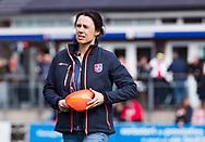 BILTHOVEN - hoofdklasse competitie dames, SCHC-Amsterdam.  coach Tina Bachmann (SCHC).  COPYRIGHT KOEN SUYK