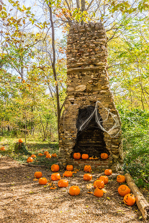 Pumpkins at halloween Cave Spring Interpretive Center