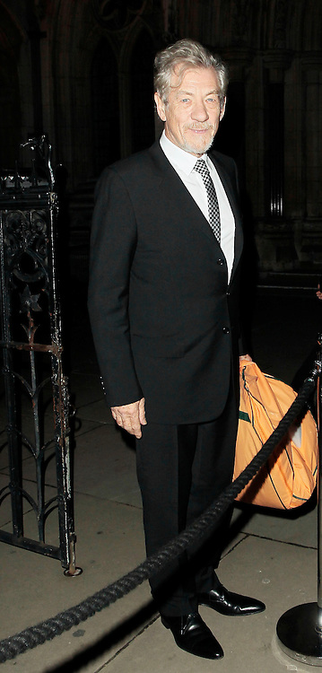 05.SEPTEMBER.2010. LONDON<br /> <br /> SIR IAN MCKELLEN ATTENDS A PARTY TO CELEBRATE THE RECIVING OF BRITISH CITIZENSHIP FOR RUSSIAN NEWS PAPER MOGUL ALEXANDER LEBEDEV AT THE ROYAL COURTS OF JUSTICE IN THE STRAND.<br /> <br /> BYLINE: EDBIMAGEARCHIVE.COM<br /> <br /> *THIS IMAGE IS STRICTLY FOR UK NEWSPAPERS AND MAGAZINES ONLY*<br /> *FOR WORLD WIDE SALES AND WEB USE PLEASE CONTACT EDBIMAGEARCHIVE - 0208 954 5968*
