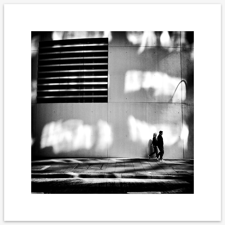 &quot;Little Fish, Big Pond&quot;, Bligh Street, Sydney. From the Ephemeral Sydney street series.<br /> <br /> As featured in my Head On Photo Festival 2018 associated exhibition &ldquo;Ephemeral Sydney&rdquo;.<br /> <br /> Available print sizes (unframed): <br /> <br /> 30 x 30 cm - Limited edition of six (6) signed &amp; numbered pigment ink prints on Hahnem&uuml;hle Photo Rag Bright White archival paper + maximum two (2) artist&rsquo;s proofs - $220<br /> <br /> Framed prints available for delivery to Sydney metro area. POA.<br /> <br /> Price includes GST &amp; delivery within Australia.<br /> <br /> To order please email orders@girtbyseaphotography.com