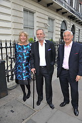 Left to right, ANNABEL ELLIOT, MARK SHAND and ? at a party to celebrate the 60th birthday of Mark Shand and the 50th birthday of Tara the elephant held at 29 Portland Place, London on 25th May 2011.