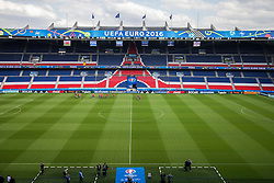 PARIS, FRANCE - Friday, June 24, 2016: Wales players walk around the pitch during a training session at the Parc des Princes ahead of the Round of 16 UEFA Euro 2016 Championship match against Northern Ireland. (Pic by Paul Greenwood/Propaganda)