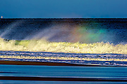 Rainbow in Wave Spray