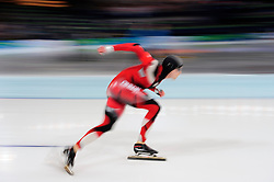 Olympic Winter Games Vancouver 2010 - Olympische Winter Spiele Vancouver 2010, Speed Skating (Men's 500 m), Eisschnelllauf, Jamie Gregg of Canada competes in the men's 500 meter speed skating competition at the Richmond Olympic Oval in Vancouver BC, Canada during the 2010 Winter Olympics Monday February 15, 2010. Mo won the gold medal. Gregg placed 8th in the competition..Photo by newsport / HOCH ZWEI / SPORTIDA.com.... *** Local Caption *** +++ www.hoch-zwei.net +++ copyright: HOCH ZWEI / newsport +++
