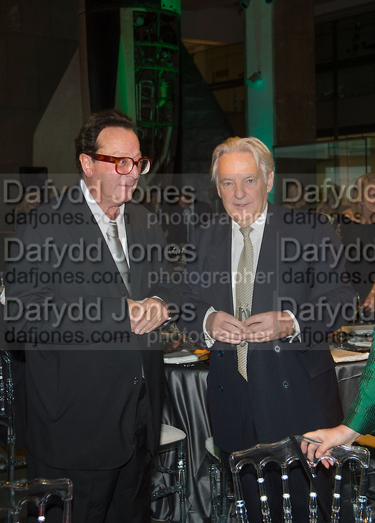 LORD SAATCHI; IVAN FALLON, Action Against Cancer 'A Voyage of Discovery' fundraising dinner at the Science Museum on Wednesday 14 October 2015.