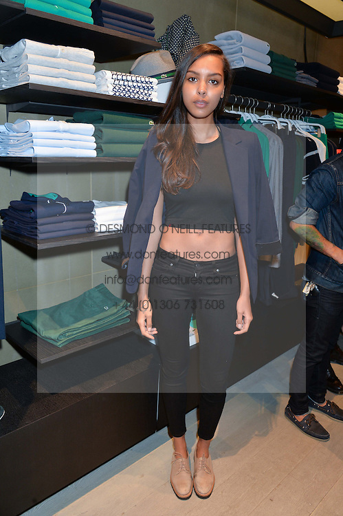 ARLISSA at a party to celebrate the reopening of the Lacoste Premium Store at 233 Regent Street, London on 28th May 2014.