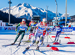 24.02.2019, Langlauf Arena, Seefeld, AUT, FIS Weltmeisterschaften Ski Nordisch, Seefeld 2019, Langlauf, Damen, Teambewerb, im Bild v.l. Sandra Ringwald (GER), Maja Dahlqvist (SWE) // f.l. Sandra Ringwald of Germany and Maja Dahlqvist of Sweden during the ladie's cross country team competition of FIS Nordic Ski World Championships 2019 at the Langlauf Arena in Seefeld, Austria on 2019/02/24. EXPA Pictures © 2019, PhotoCredit: EXPA/ Stefan Adelsberger