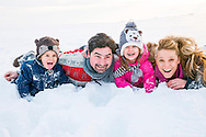 Family, Children, Fun, Mischief, Cheerful, Costume, Snow,